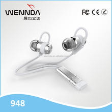 Popular Noise cancellation bluetooth earphone with volume control stereo wireless earphone (Wennda R948)
