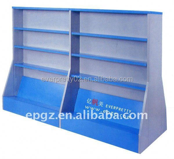 School wooden library bookrack,library magazine display