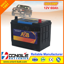 Chinese Factory cheap price good quality as atlas car battery N60LMF