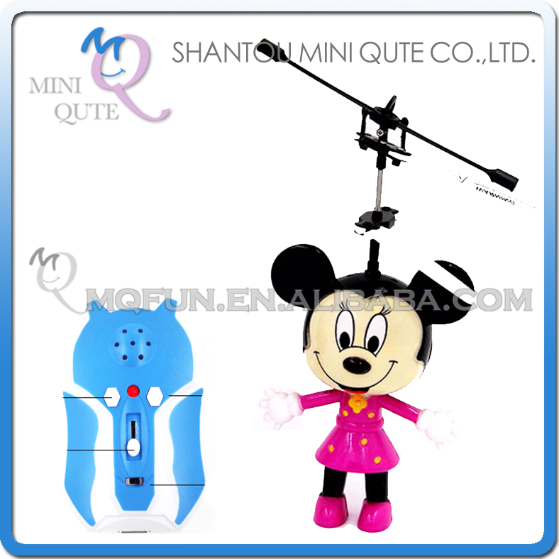 Mini Qute RC remote control kawaii flying Helicopter cartoon mouse model plastic doll kids Electronic toys NO.G15088-2