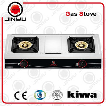 two burner gas stove kitchen appliance
