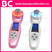 BC-1120 Handheld Ultrasound with Red,Blue and Green LED Lights Facial Beauty Machine