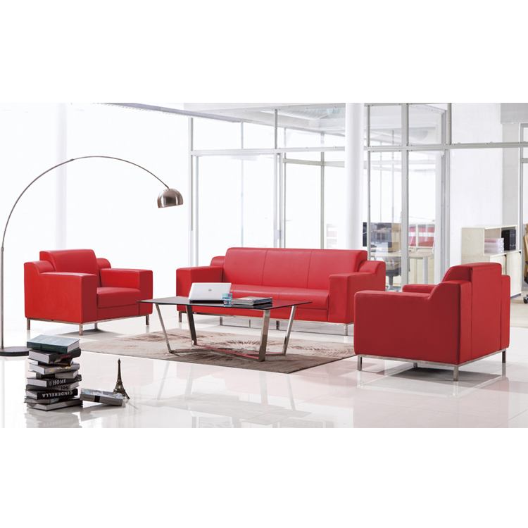 Red office leisure fabric sofa couch,lounge sofa for living room, leather settee