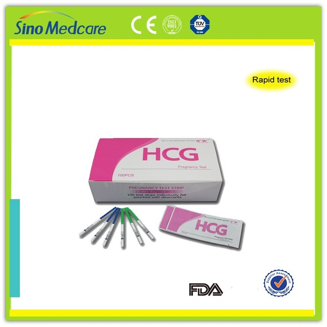 accurate one step hcg pregnancy test strip test cassette