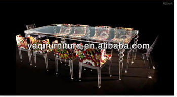 10 People Seat Acrylic Dining Table