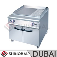 Shinobal Dubai Steak Equipment/Commercial Kitchen Equipment Price for Gas/Electric Cast Iron Griddle