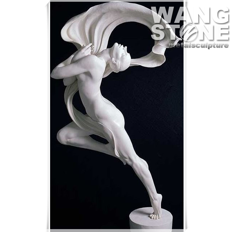 Hand Craft Stone Garden Naked Girl Dancing Sculpture