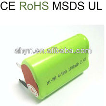 high capacity and high voltage AA 1800mah 2.4v ni-mh battery