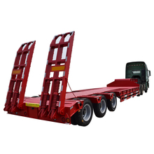Hot sale machine transport truck semi trailer 3 axle low bed trailer