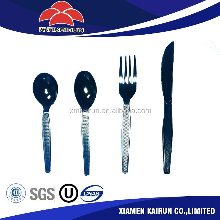 Innovative product wholesale reusable disposable plastic cutlery set with plastic handle
