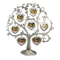 Family tree shape custom metal photo collage frames