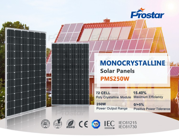 monocrystalline solar panel 250W