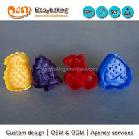 Factory Custom Plastic Fruit Shape 3D Cookie Cutters