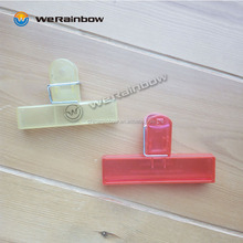 customized promotional large plastic food bag clip