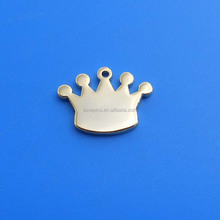 custom design crown nickel plated dog tag for stamping blank