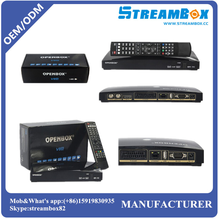 Free shipping Original Openbox V8S HD Mpeg4 Smart FTA Free to Air PVR DVB S2 <strong>Satellite</strong> Receiver