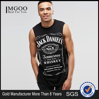 Custom Made Sleeveless T-Shirt With Jack Daniels Print Oversized Silm Fit Muscle Mens Tank Top With American Size Wholesale