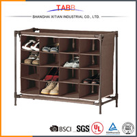 16 Shelves Brown High Quality Used Shoe Store Display Racks
