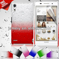 NEW Clear Waterdrop Raindrop Hard Phone Case Cover for huawei p6