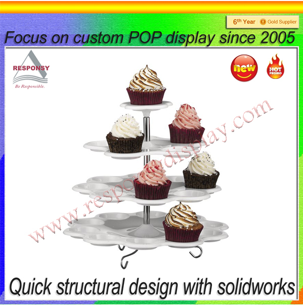 Customized multi-tier acrylic buffet dish display stand