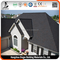 Hangzhou Factory Single Layer Asphalt Roofing Tiles For Lightweight Roofing Shingle