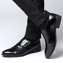 New 2018 business dress men formal shoes wedding fashion leather plats shoes