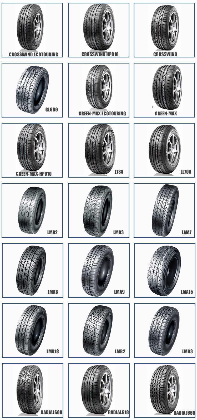 New Car Tires High Reputation 265/70R16 265/65R17 Tires