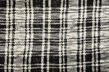 Square Stripe Black and White Pattern Fabric