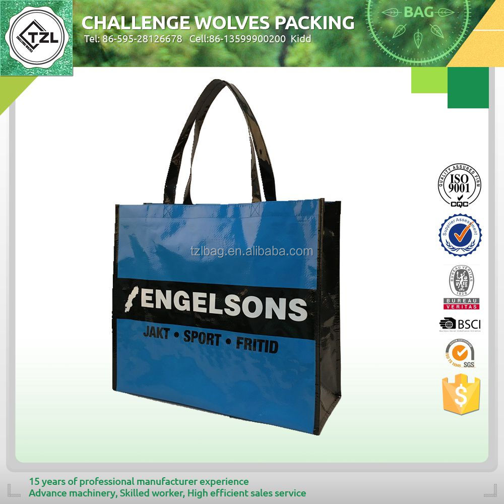 Recycled promotion new design non woven shopping bag