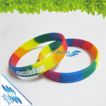 2017 custom printing logo /words silicone /soft PVC wristbands for man /events