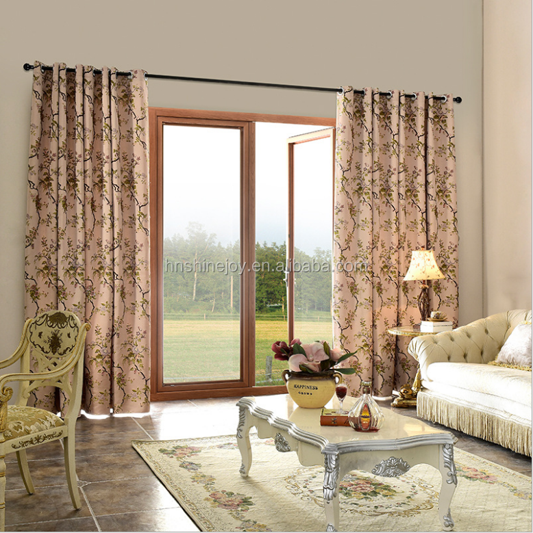 Customize European Style Living Room Partition Jacquard Curtain yarn dyed curtain
