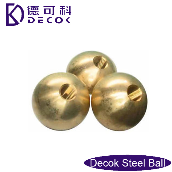 solid or hollow threaded brass balls