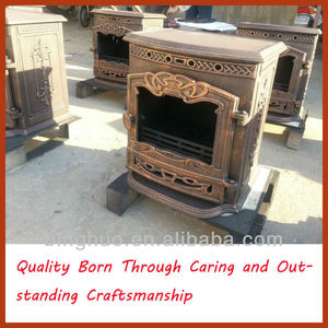 BH056 bronze-coloured royal classic wood burning stove