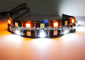 white-amber Switchback 12 SMD LED Strip Glow Light car Audi Style