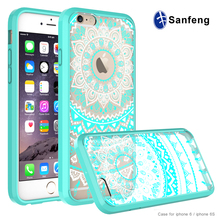 2017 new design custom cell phone covers for iphone 6S mandala round case