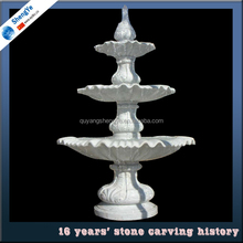 carved stone garden 3 tier water fountains