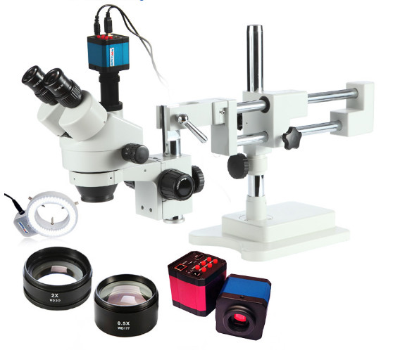 3D Stereoscopic microscope and three - dimensional electron microscopy