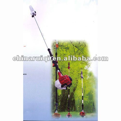 Long reach handle pruner gas power tree pole saw