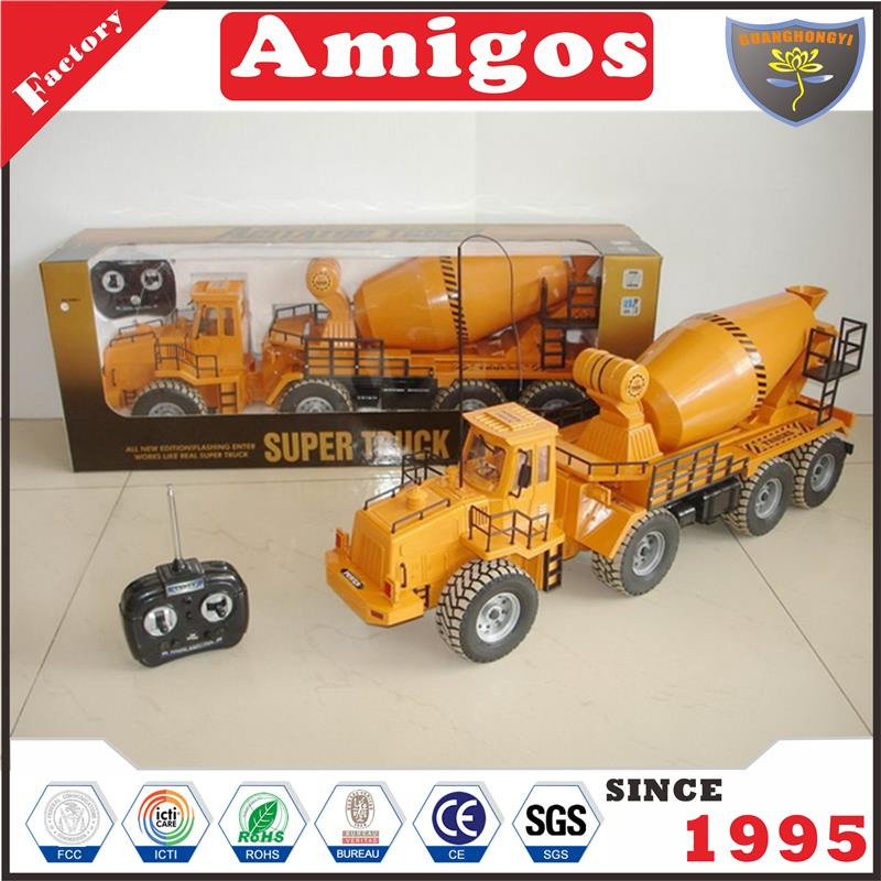 good quality toy 1:10 6 channel rc concrete mixer latest radio control engineering vehicle