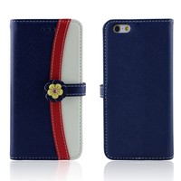Colorful PU leather slot wallet stand Cover Skin Case