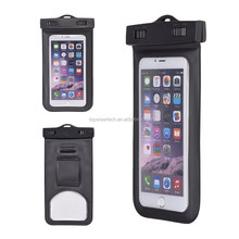 Underwater CellPhone Floatable Waterproof Case With Armband, Audio Jack, Lanyard Perfect for Swimming Diving Hiking