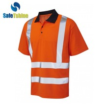 Exquisite safety equipment high visibility tie polo t shirt men