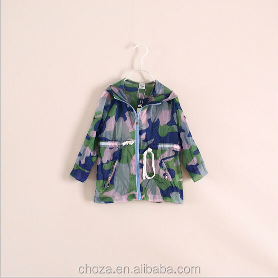 C53990S SPRING/SUMMER FASHION STYLE CAMOUFLAGE KIDS COATS
