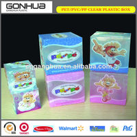 Printed Plastic Clear Packaging Box of Custom Design for Skin Care Cosmetics