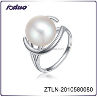 Wholesale Platinum Surround Charm Jewelry Of New Pearl Ring Design For Girl