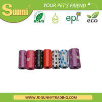 New design biodegradable dog colorful waste bag veterinary cleaning products(manufacturere of pet products)