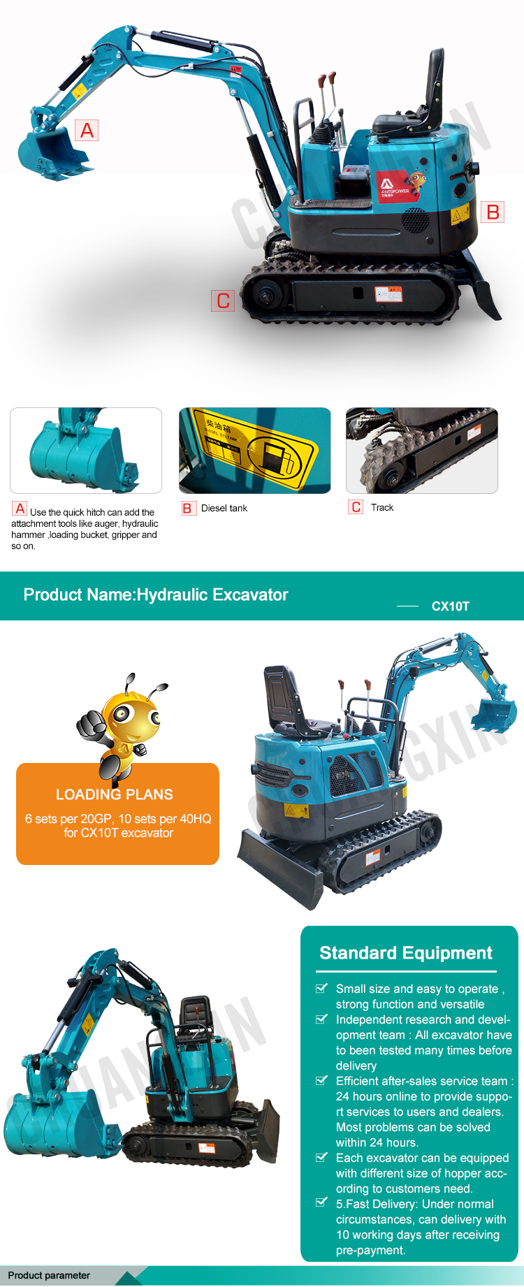 This product with beautiful appearance superior performance high configuration hydraulic excavator