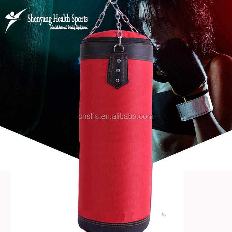 Wholesale Sandbag Canvas Kicking Boxing Punching Bag Cover for Training