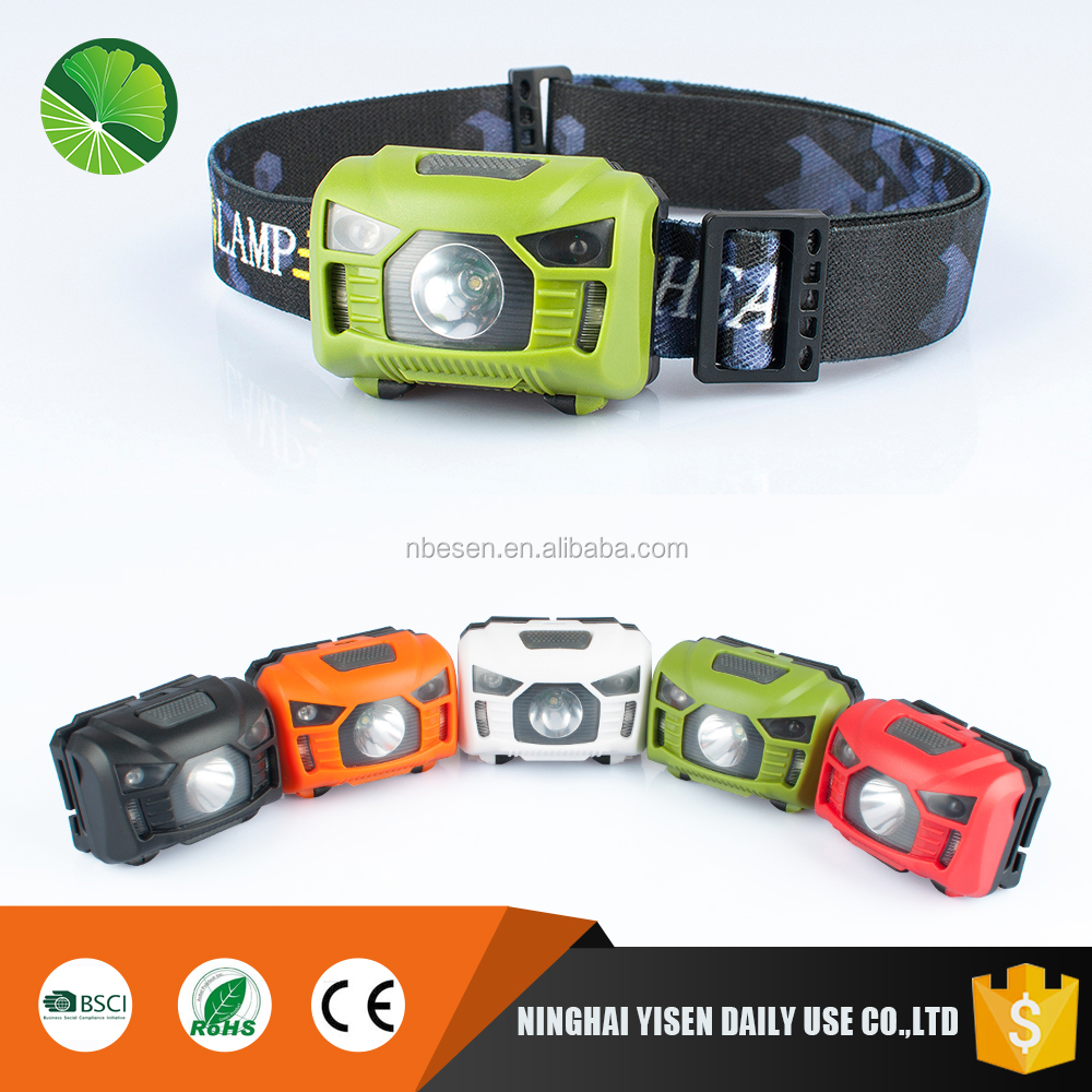 Supply light weight mini waterproof led head torch