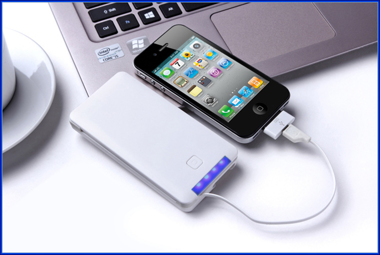 Made in China wholesale mobile power bank charger usb built-in cable 5000mah real capacity